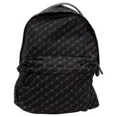 Stella McCartney Black & White Monogram Backpack
