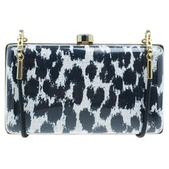 Stella McCartney Black/White Plexy Fabric Felicity Box Clutch