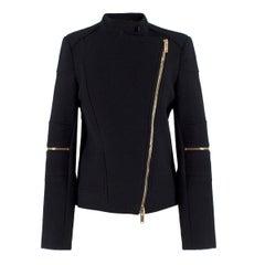 Stella McCartney Black Wool-blend Asymmetric Jacket IT 40