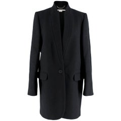Stella McCartney Black Wool Blend Coat 44