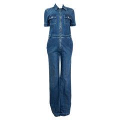STELLA MCCARTNEY blue cotton DENIM Short Sleeve Jumpsuit S