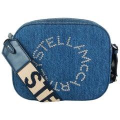 STELLA MCCARTNEY blue DENIM LOGO MINI CAMERA Shoulder Bag