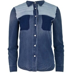 Stella McCartney Blue Denim Shirt Sz IT38