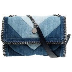 Stella McCartney Blue Eco Denim Falabella Shoulder Bag