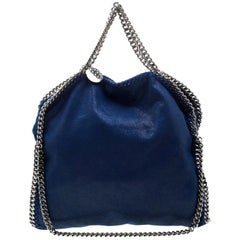 Stella McCartney Blue Faux Leather Small Falabella Tote