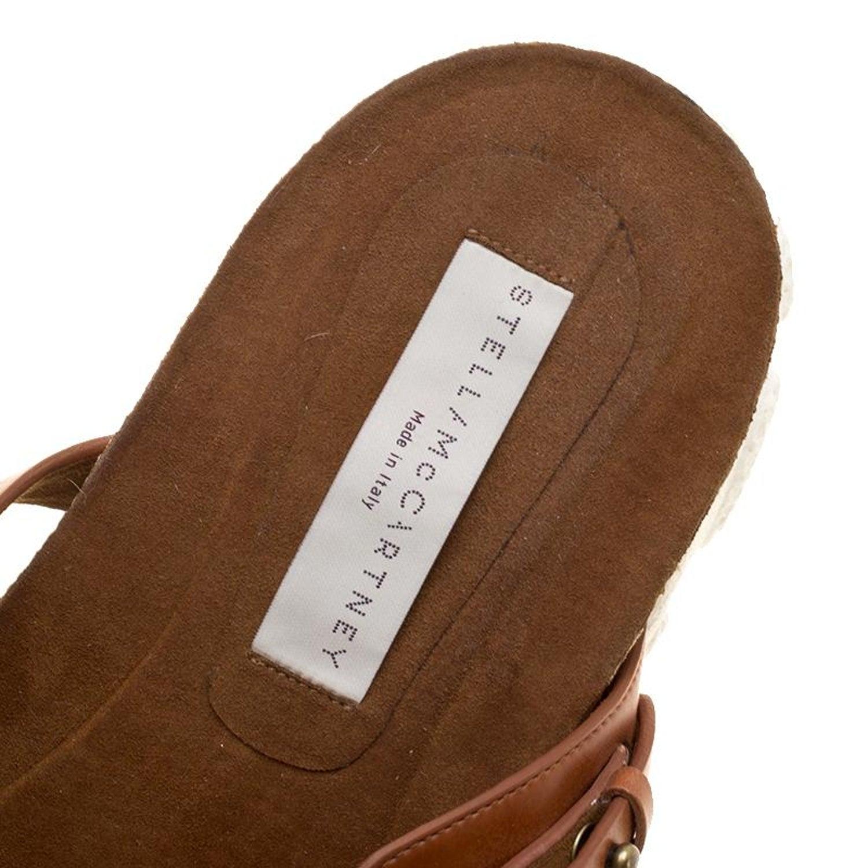 9ba1a8cf3586 Stella McCartney Brown Faux Leather Altea Platform Slides Size 39 For Sale  at 1stdibs