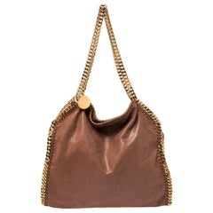 Stella McCartney Brown Faux Suede Small Falabella Tote