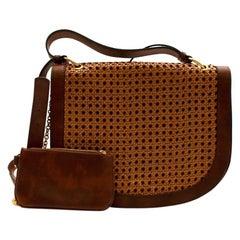 Stella McCartney Brown Vegetarian Leather Braided Alexa Bag