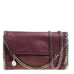 Stella McCartney Burgundy Faux Leather Falabella Shoulder Bag
