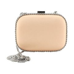 Stella McCartney Chain Clutch Satin