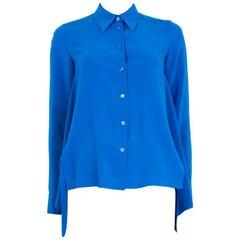 STELLA MCCARTNEY cobalt blue silk Button Up Shirt 36 XXS Blouse