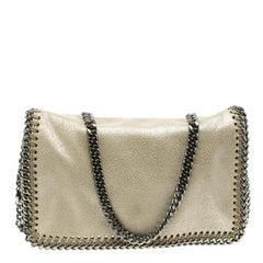 Stella McCartney Cream Leather Falabella Crossbody Bag