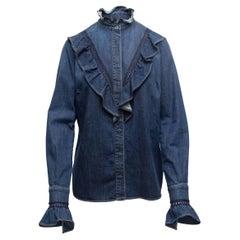 Stella McCartney Dark Blue Denim Button-Up Top