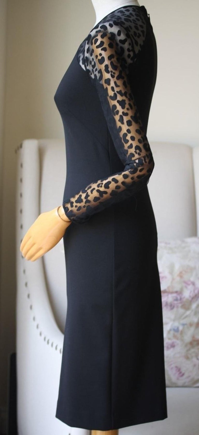Stella McCartney  Devoré-Paneled Stretch-Jersey Dress In Excellent Condition For Sale In London, GB