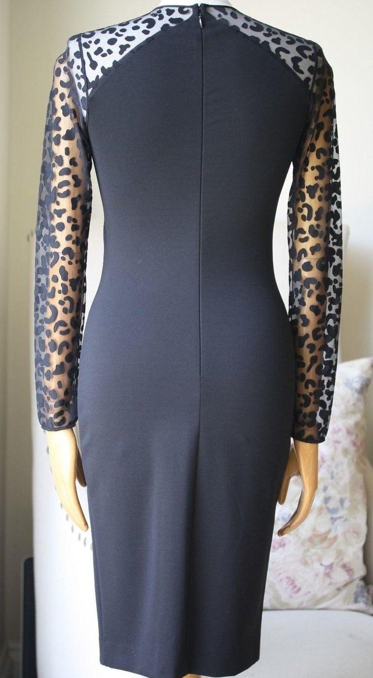 Women's Stella McCartney  Devoré-Paneled Stretch-Jersey Dress For Sale
