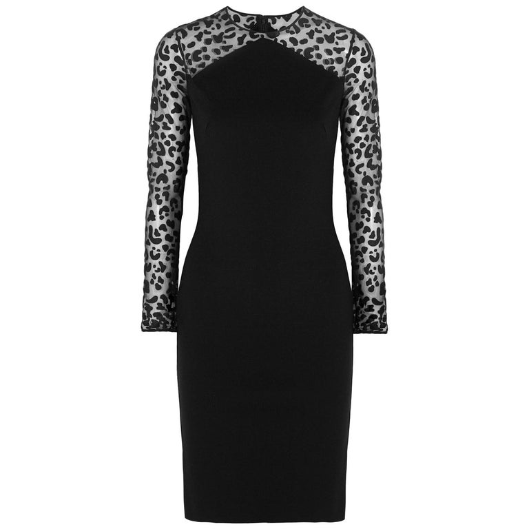 Stella McCartney  Devoré-Paneled Stretch-Jersey Dress For Sale