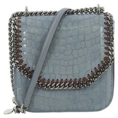 Stella McCartney Falabella Box Shoulder Bag Crocodile Embossed Faux Leather