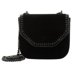 Stella McCartney Falabella Box Shoulder Bag Velvet Mini