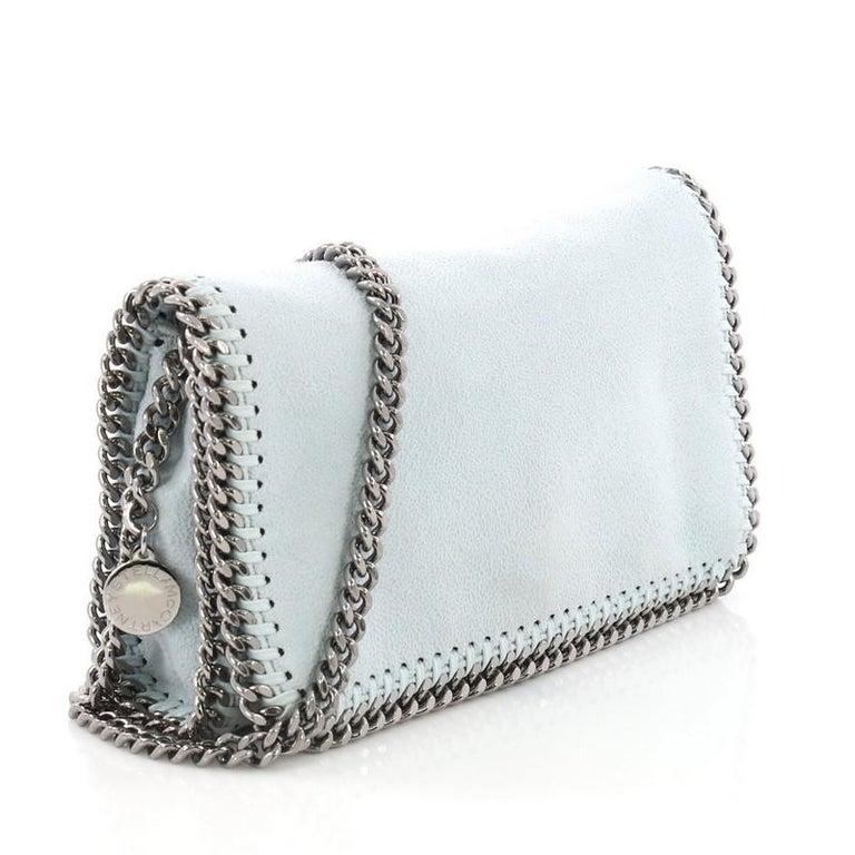 3caffffaa99a Gray Stella McCartney Falabella Flap Crossbody Bag Shaggy Deer Mini For Sale