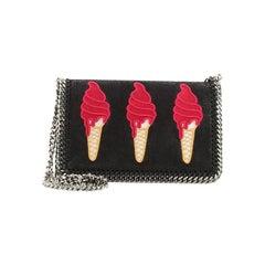Stella McCartney  Falabella Flap Crossbody Bag Shaggy Deer with Applique S