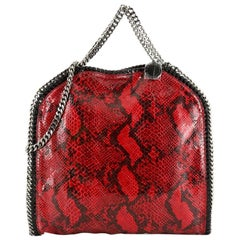 Stella McCartney Falabella Fold Over Bag Faux Python