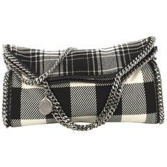 Stella McCartney Falabella Fold Over Bag Gingham Wool
