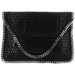 Stella McCartney Falabella Fold Over Clutch Mesh And Faux Patent
