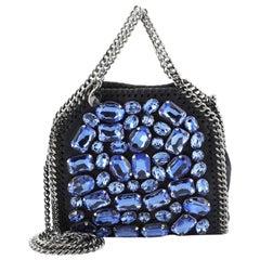 Stella McCartney  Falabella Fold Over Crossbody Bag Crystal Embellished Sh