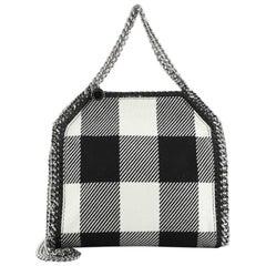 Stella McCartney Falabella Fold Over Crossbody Bag Gingham Wool Mini