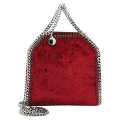 Stella McCartney Falabella Fold Over Crossbody Bag Velvet Tiny