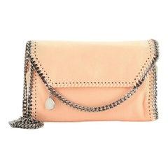 Stella McCartney Falabella Fold Over Flap Crossbody Bag Shaggy Deer Mini