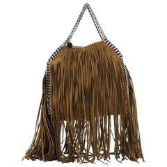 Stella McCartney Falabella Fringe Fold Over Crossbody Bag Shaggy Deer Min