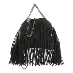 Stella McCartney Falabella Fringe Fold Over Crossbody Bag Shaggy Deer Tiny