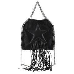 Stella McCartney Falabella Fringe Star Fold Over Crossbody Bag Shaggy Deer Mini