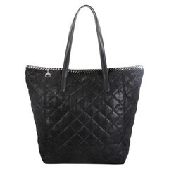 Stella McCartney Falabella Shopper Tote Quilted Shaggy Deer Tall