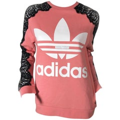 Stella McCartney For Adidas Originals Logo Sweatshirt W/. Lace Panel Inset