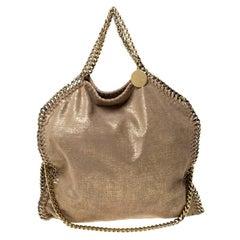 Stella McCartney Gold Faux Leather Falabella Chain Tote