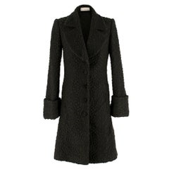 Stella McCartney Green Cloque Wool Coat SIZE - Size US 4