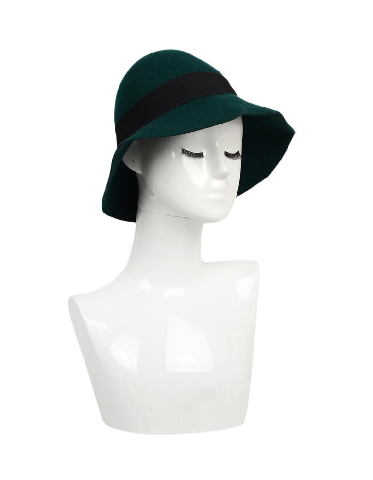 Stella McCartney Green Wool Hat NWT Sz 58  Made In: Italy Color: Green, black Materials: 100% wool Closure/Opening: Pull on Overall Condition: Excellent condition with original tags attached Estimated Retail: $325 + tax Includes: Original