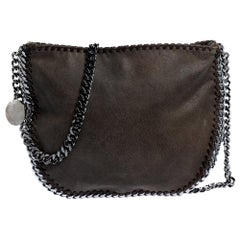 Stella McCartney Grey Faux Leather Crossbody Bag