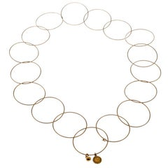 Stella McCartney Interlocking Circle Rose Gold Tone Choker