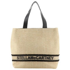 Stella McCartney Logo Tote Woven Raffia Large