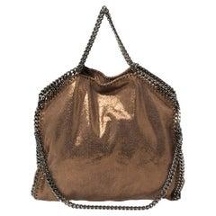 Stella McCartney Metallic Brown Faux Leather Small Falabella Tote