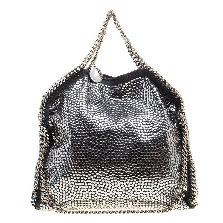 9697aef498cf3 Stella McCartney Metallic Faux Leather Small Studded Falabella Tote at  1stdibs