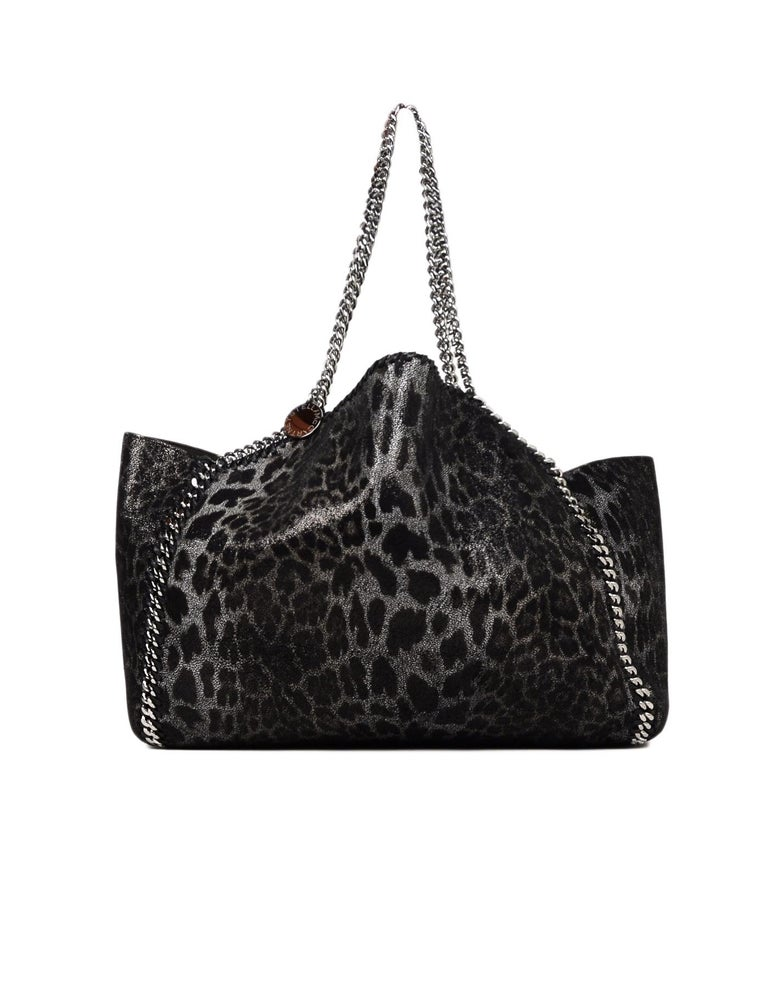 beee0cb560b4 Women's Stella McCartney Metallic Leopard/Taupe Faux Leather Reversible  Falabella Tote For Sale