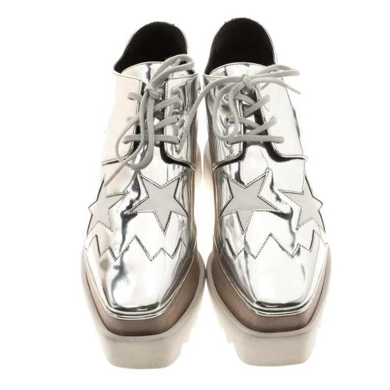 b1845ba64853 Stella McCartney exudes her high style and unique fashion taste with these  Elyse derby shoes.