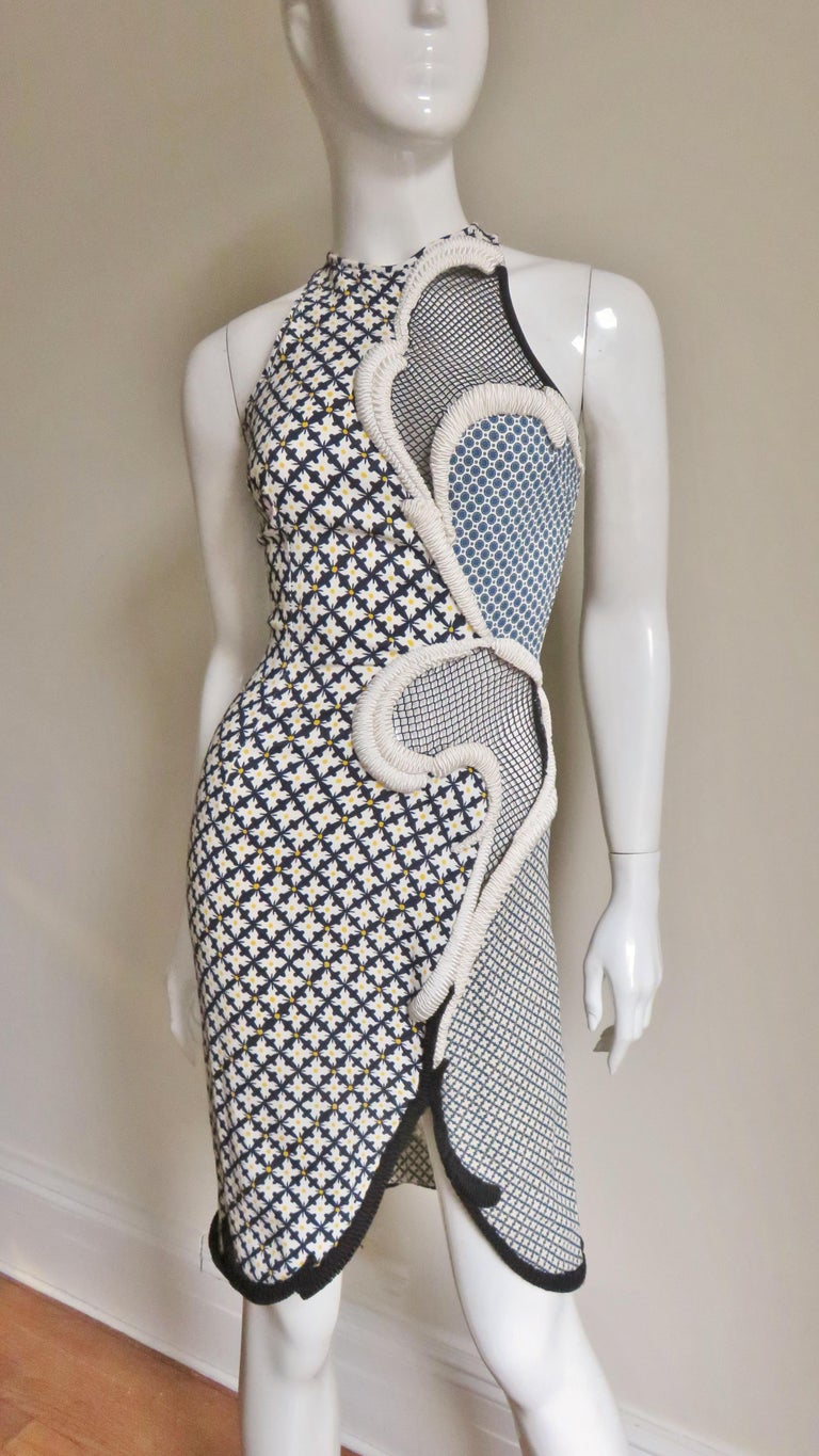 Stella McCartney New Mixed Pattern Cut out Dress For Sale 6