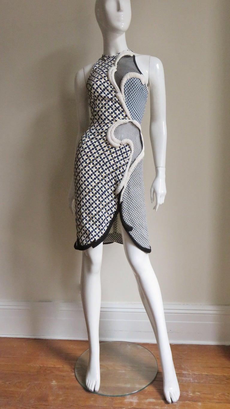 Stella McCartney New Mixed Pattern Cut out Dress For Sale 7