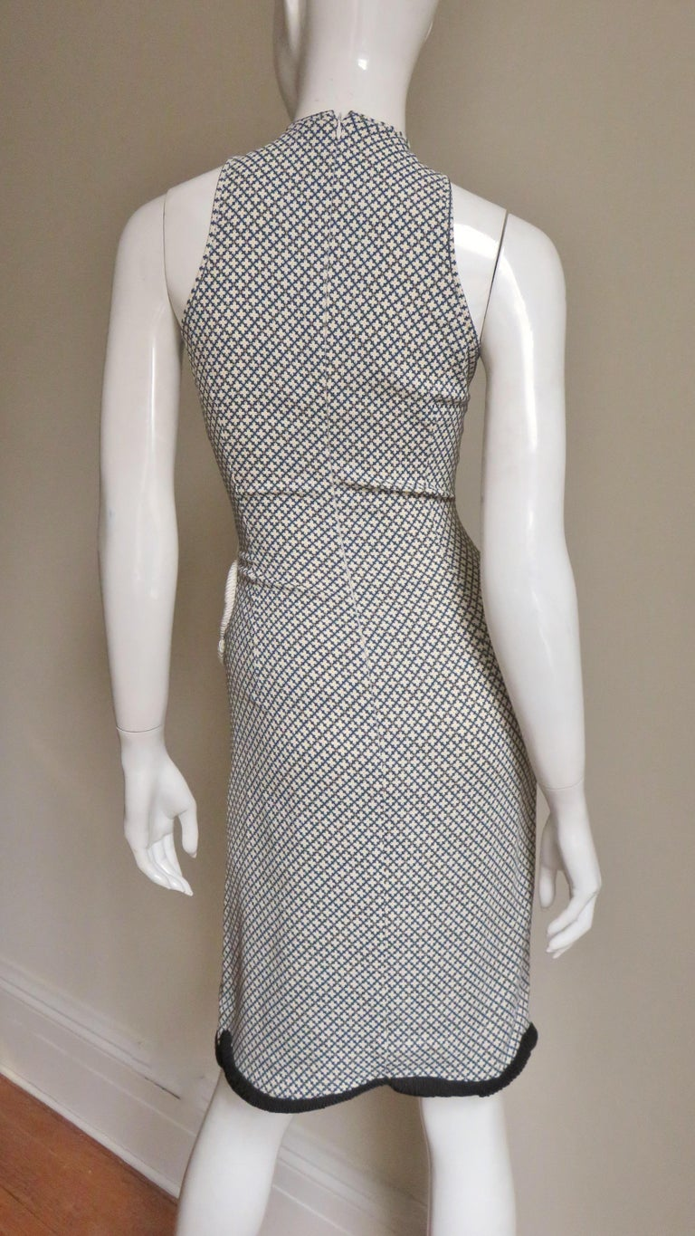 Stella McCartney New Mixed Pattern Cut out Dress For Sale 8