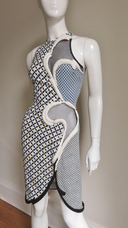 Women's Stella McCartney New Mixed Pattern Cut out Dress For Sale